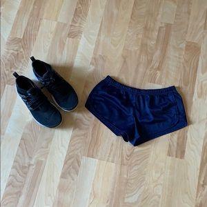 Gym shorts navy blue